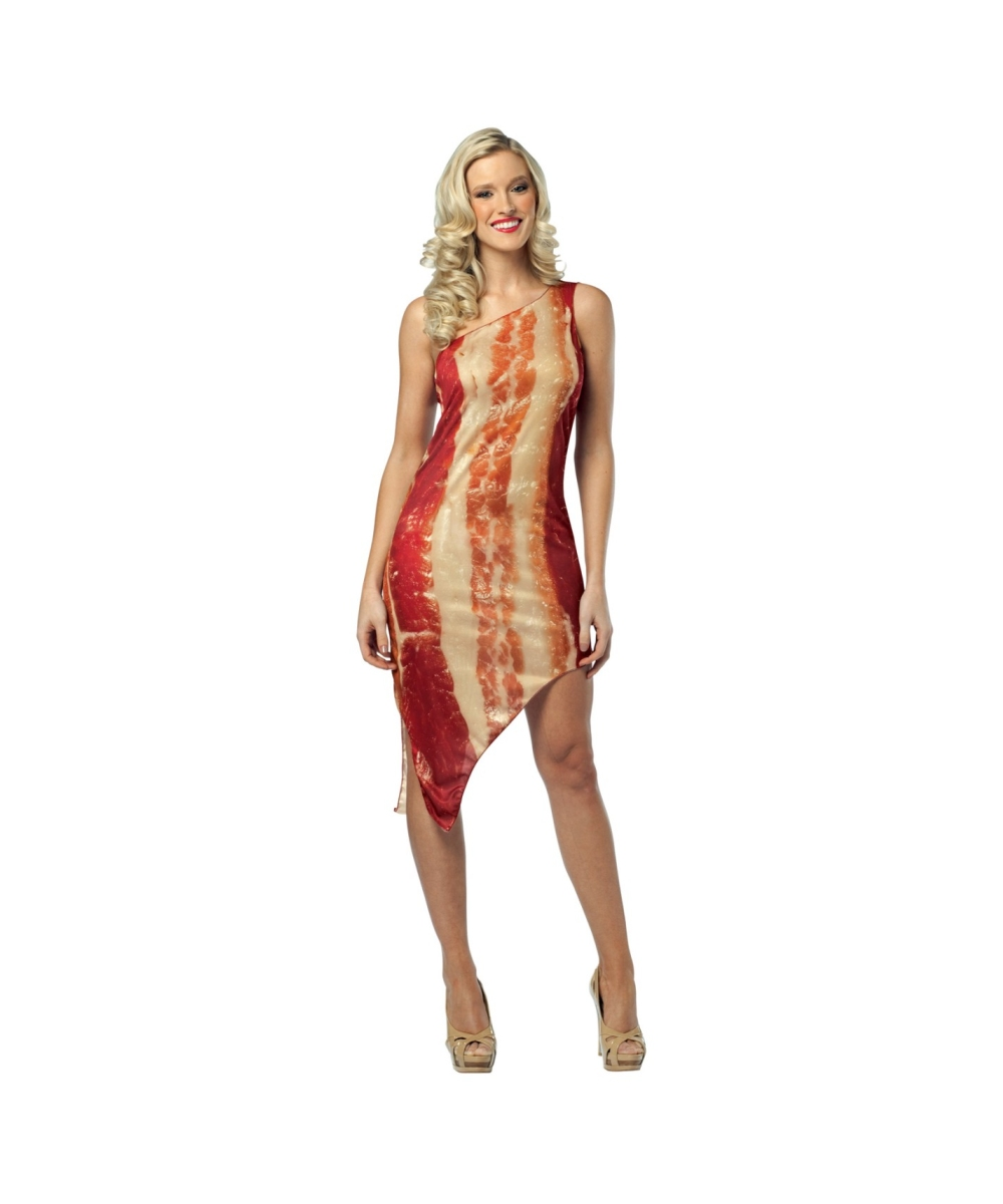 Adult Bacon Dress Halloween Costume Couples Costumes