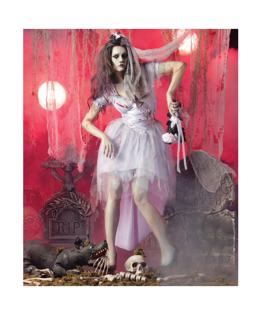 Zombie Bride Halloween Adult Costume Womens Costumes