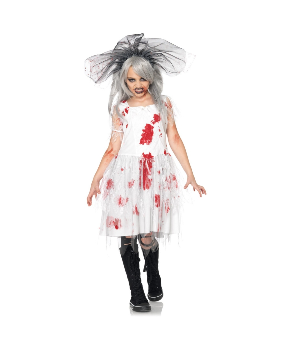 Halloween Zombie Costumes For Girls.Zombie Bride Kids Halloween Costume Girls Costumes