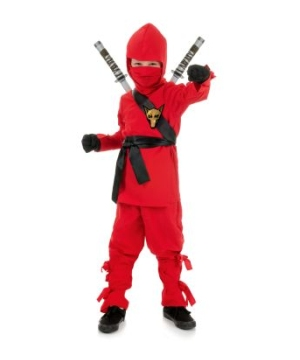 Red Ninja Boys Costume
