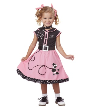 50s Poodle Cutie Girls Costume