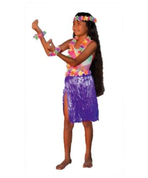 Aloha Purple Kit Kids Costume