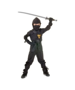 Black Ninja Boys Costume
