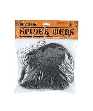 Black Web Halloween Decoration