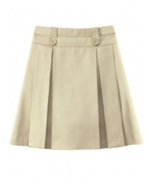 Khaki Knife and Box Pleated Girls Skort Universal School Uniforms