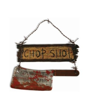 Chop Shop Sign Halloween Decoration