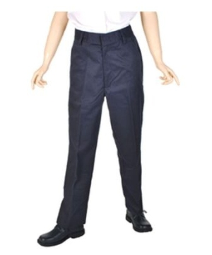 Navy Blue Flat Front and Double Knees Boys Pants Universal School Uniforms