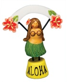 Hula Girl Food and Place Setter