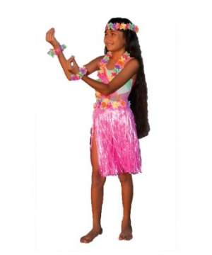 Aloha Pink Kit Kids Costume