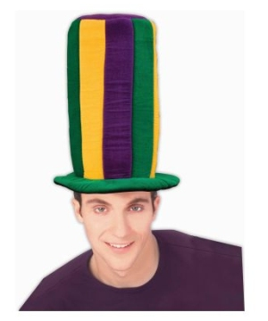 Mardi Gras Tall Hat