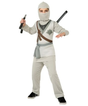 Grey Ninja Boys Costume