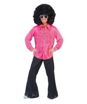 Saturday Night Pink Shirt Men Costume