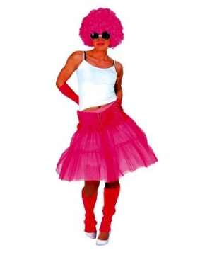 Pink Skirt Women Costume