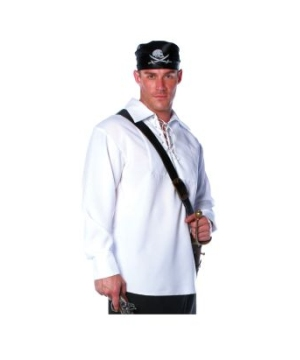 Pirate Shirt Adult plus size Costume White