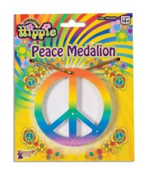 Rainbow Peace Medallion Necklace