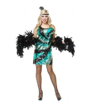 Sequin Swirl Dress Women Costume