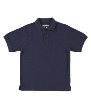 Navy Short Sleeve Pique Girls Polo Universal School Uniforms