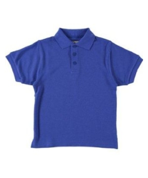 Royal Blue Short Sleeve Pique Kids/teens Unisex Polo Universal School Uniforms