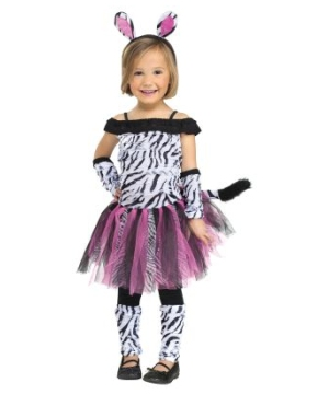 Skeleton Sweetie Girls Costume and Makeup Set