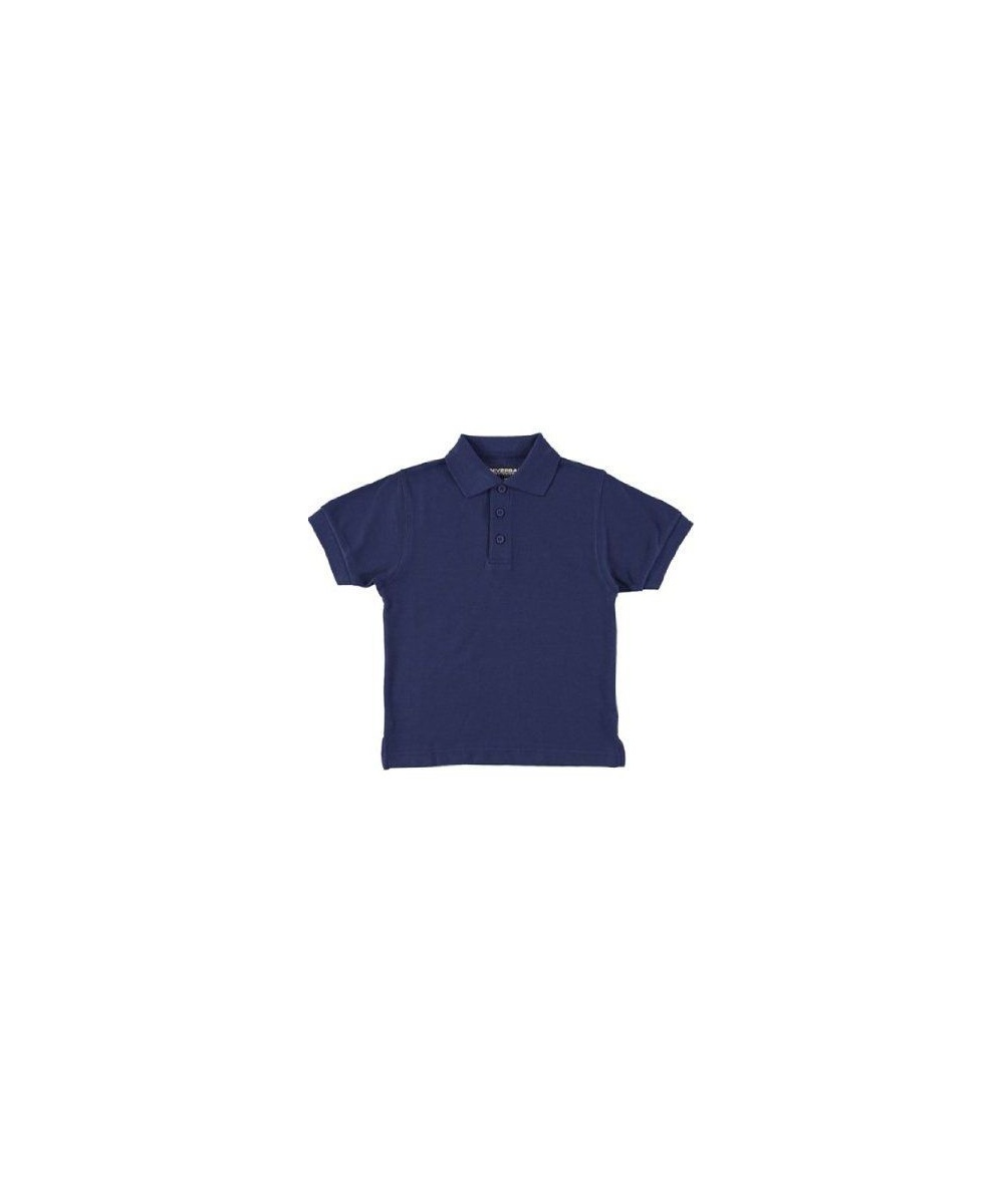Sleeve Pique Polo School Uniforms Navy