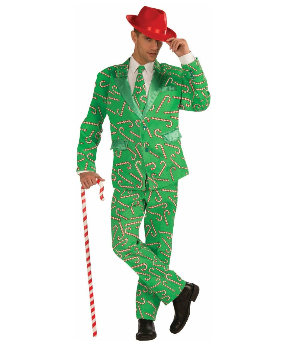 adult candy cane suit christmas costume - Christmas Costume