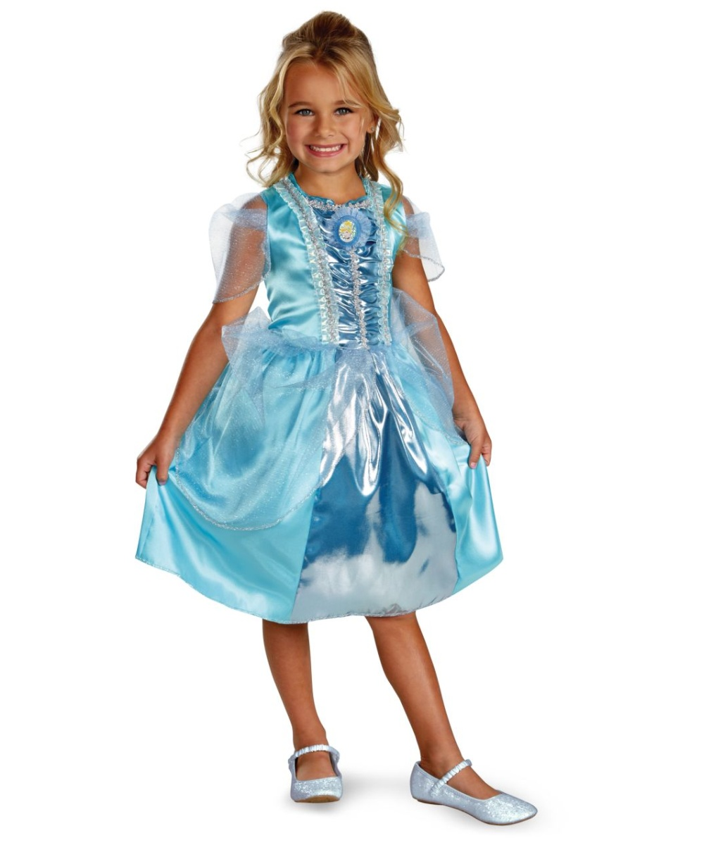 Cinderella Sparkle Disney Girls Costume  sc 1 st  Halloween Costumes & Cinderella Sparkle Disney Girl Costume - Girls Disney Costumes