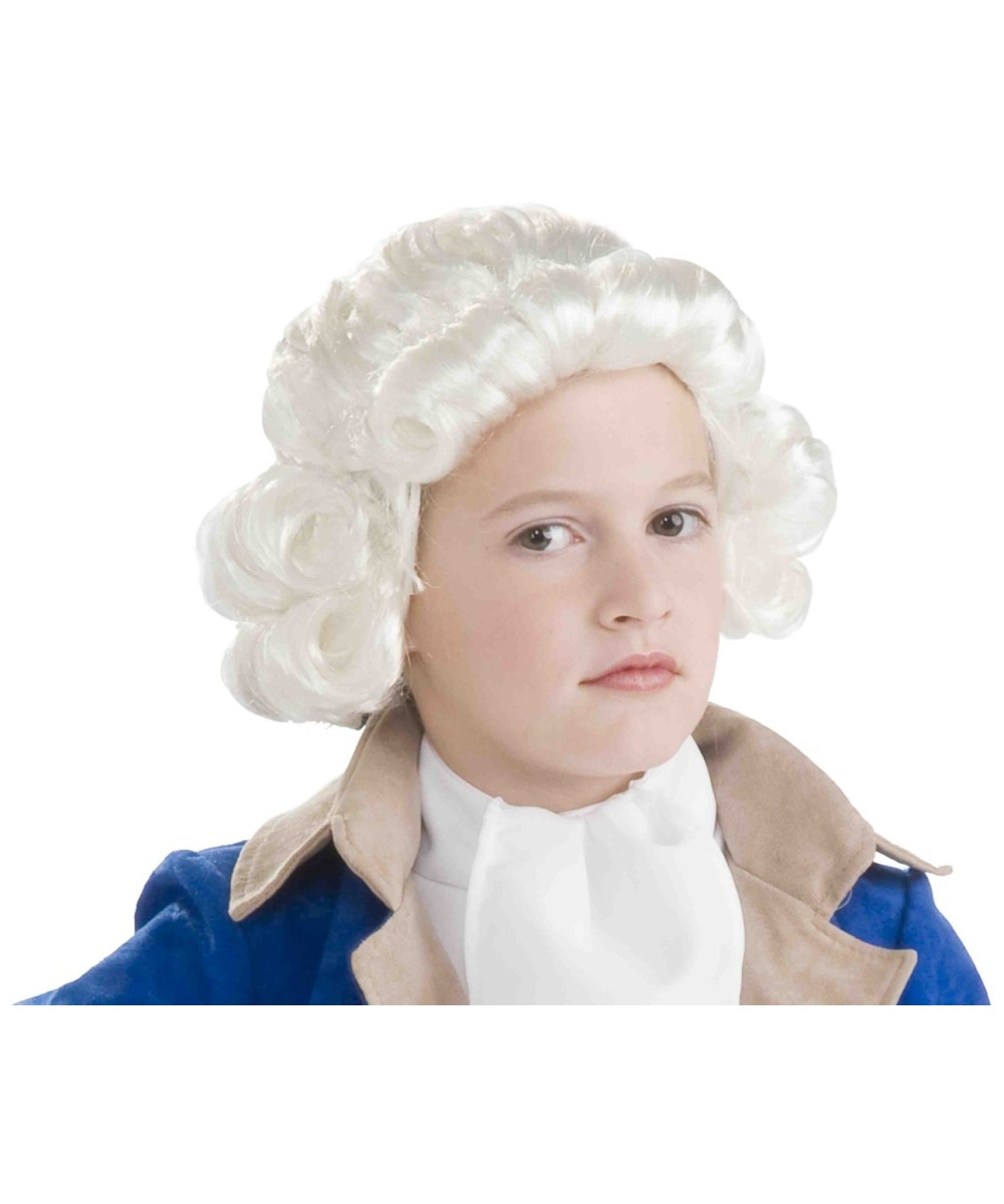 White Colonial Man Costume Wig