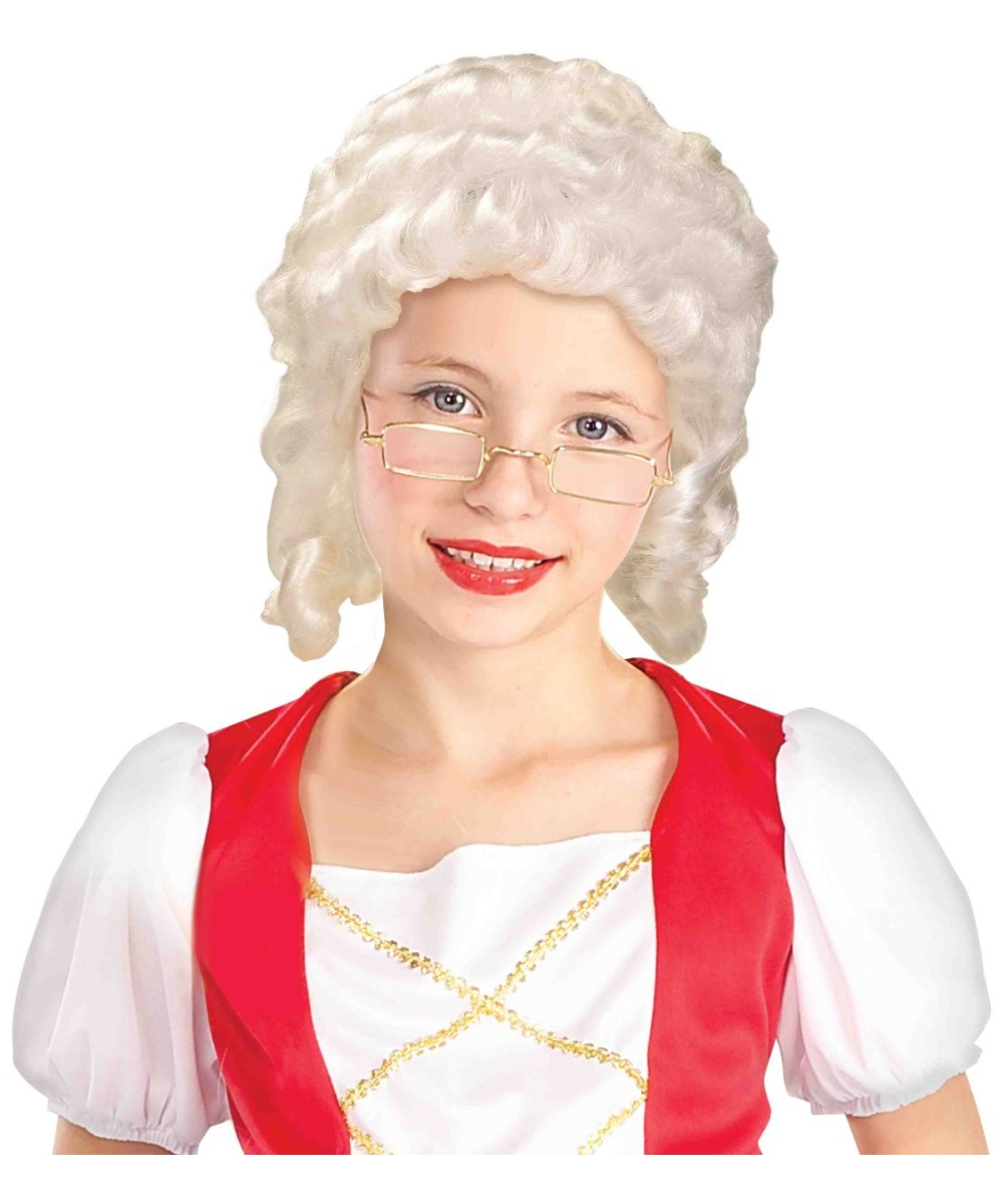 colonial girl kids wig - girls halloween costumes