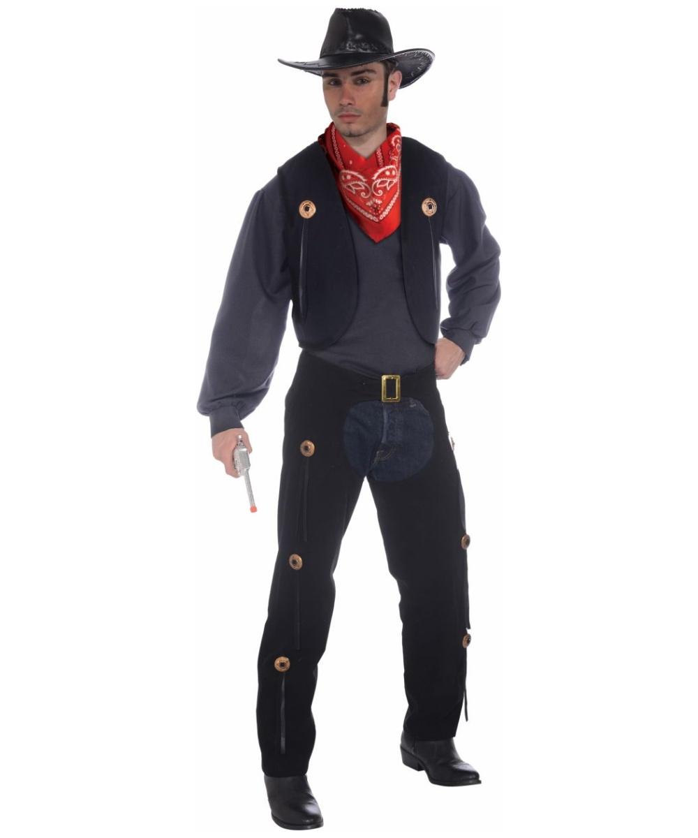 Adult Cowboy Costume , Men Halloween Costume