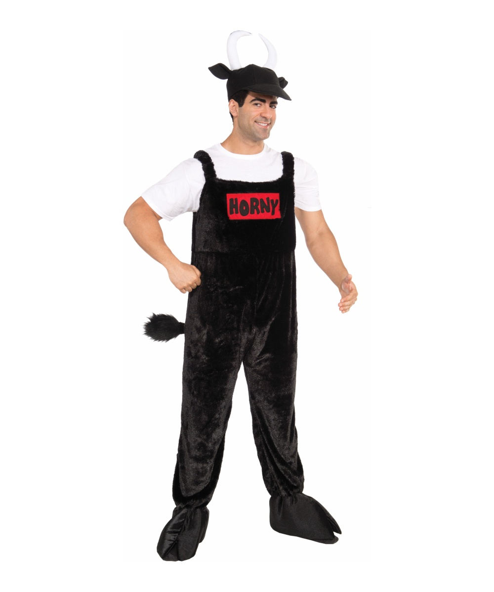 adult horny bull halloween costume - men funny costume - animal costume