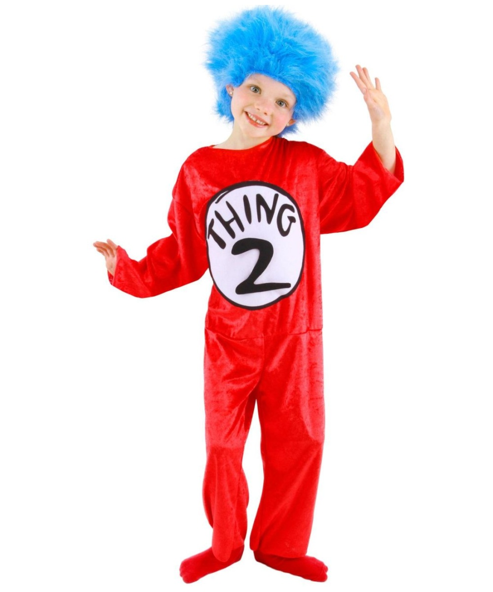 a0834cf9 Dr. Seuss Thing 2 Kids Cat in the Hat Costume