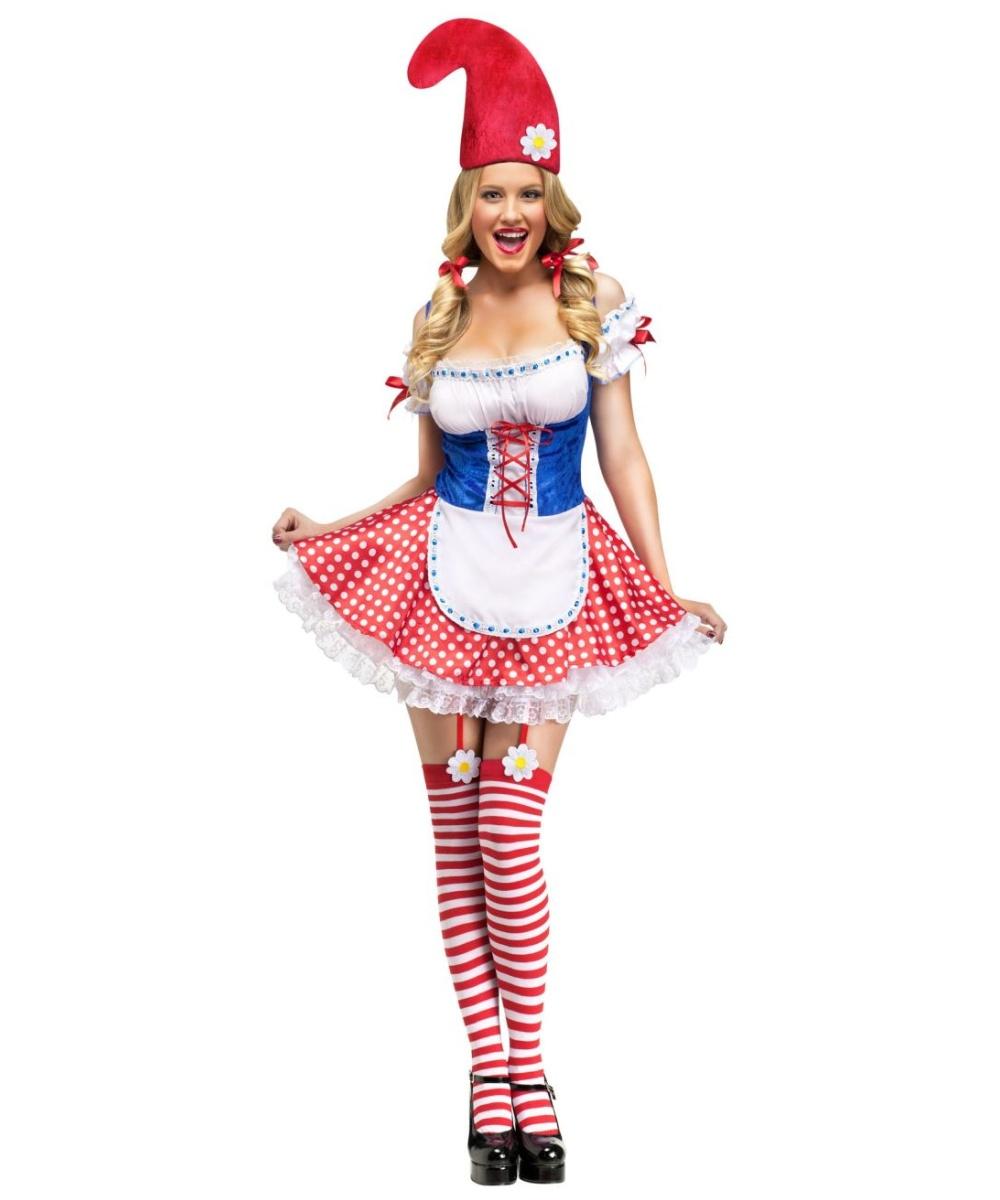 Sexy Gnome Women Costume  sc 1 st  Wonder Costumes & Flower Garden Gnome Costume - Girls Costume