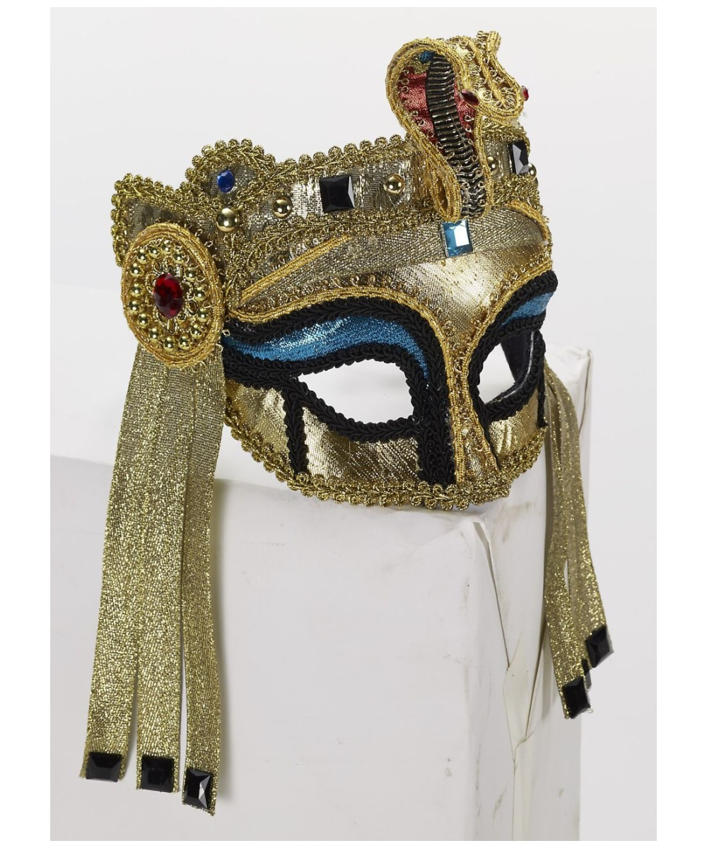 Gold Masquerade Mask For Adults Egyptian Costume Mask