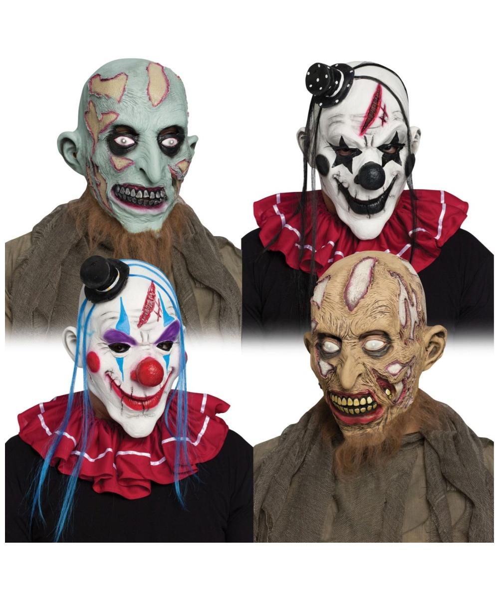Zombie Clown Adult Mask Men S Masks