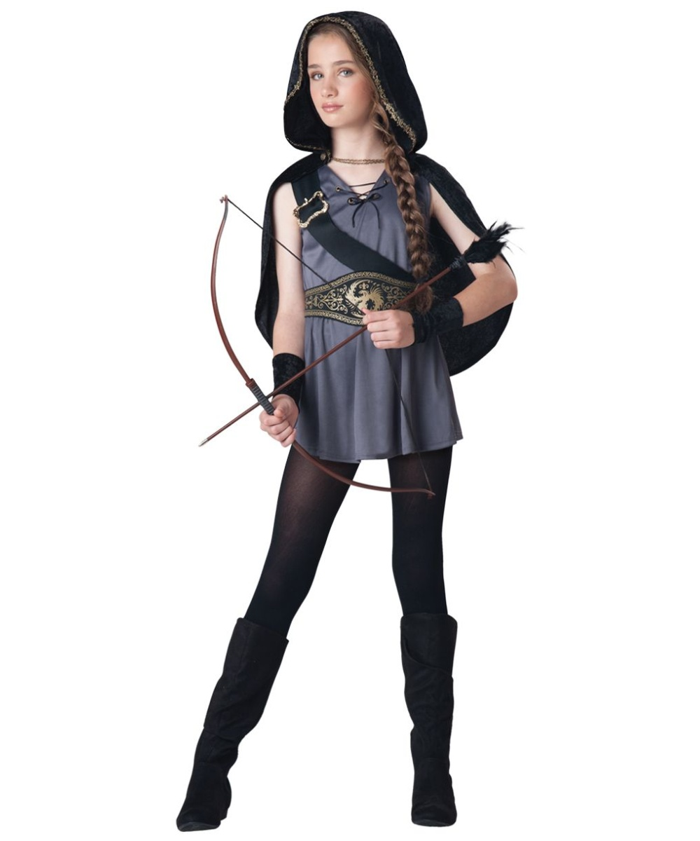 hooded huntress kids halloween costume girls costumes. Black Bedroom Furniture Sets. Home Design Ideas