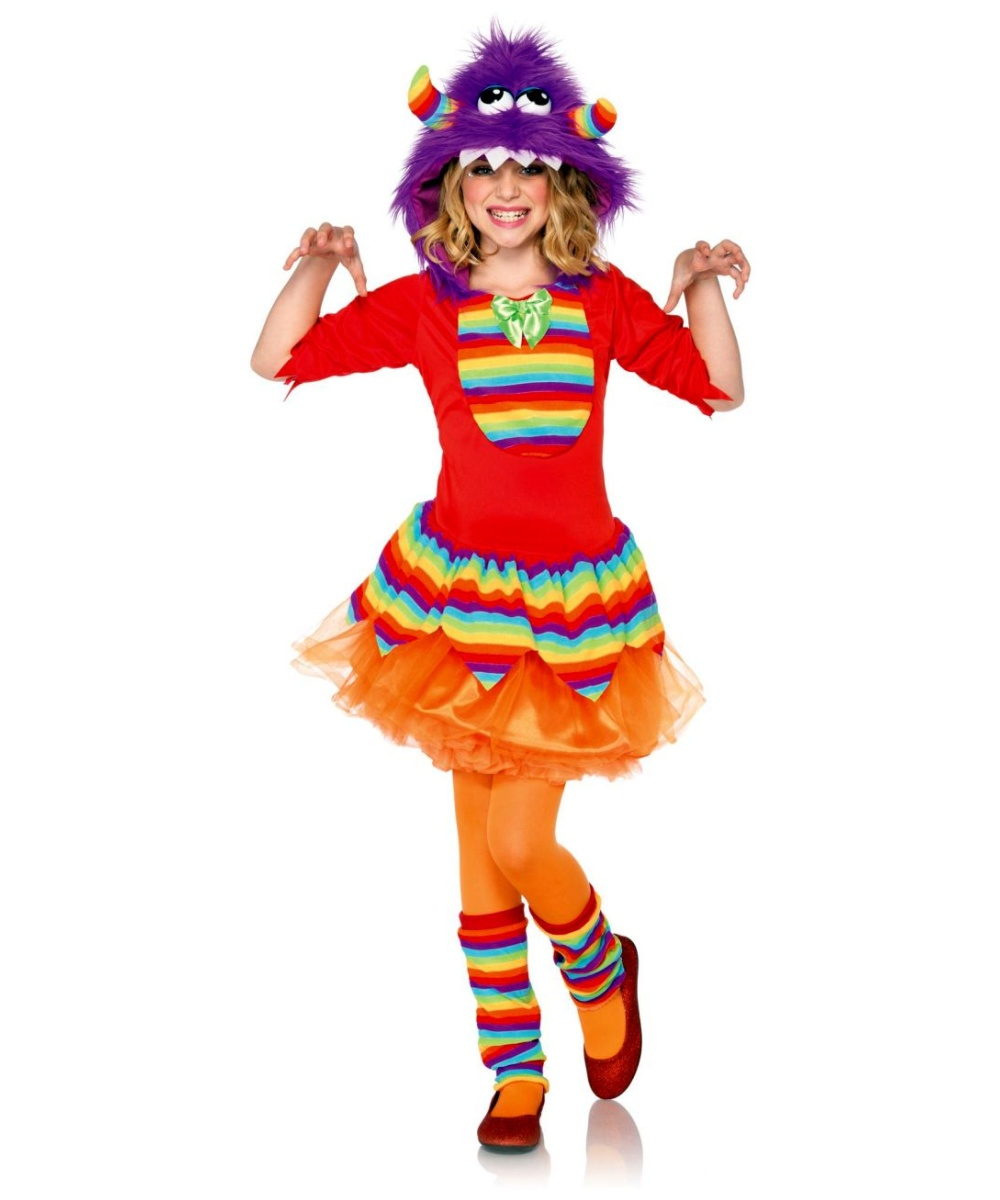 rainbow monster kids halloween costume girls costumes