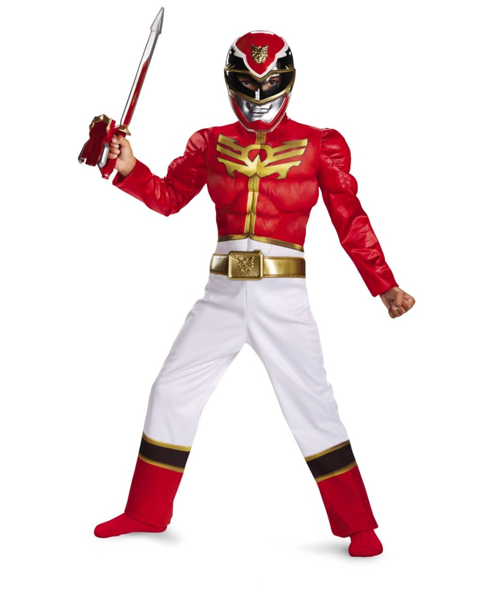power ranger megaforce classic muscle red kids costume