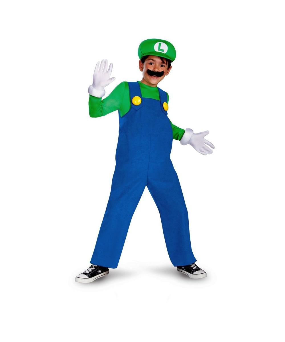 luigi kids mario halloween costume kids costumes