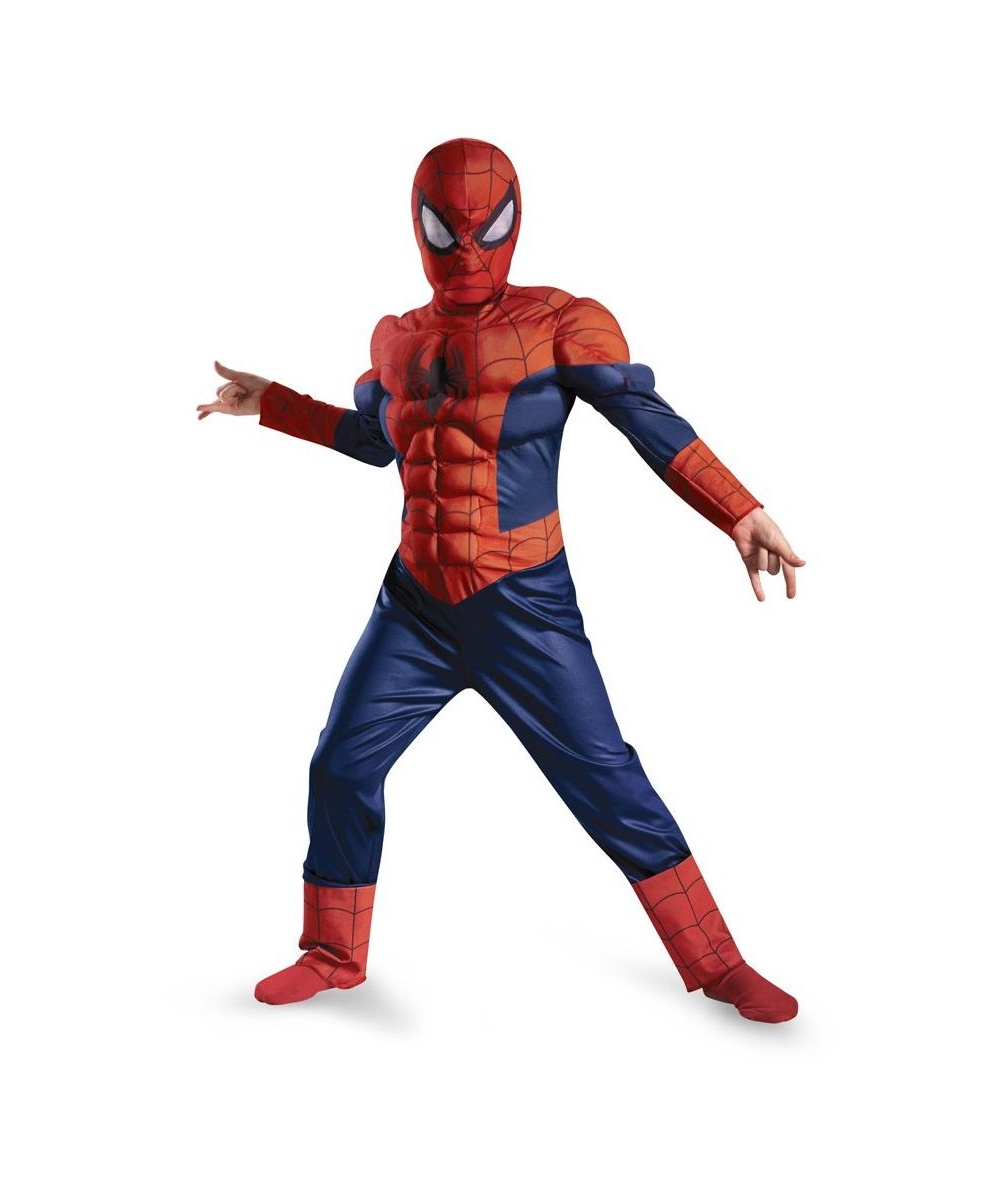 ultimate spider man muscle light up kids movie halloween costume