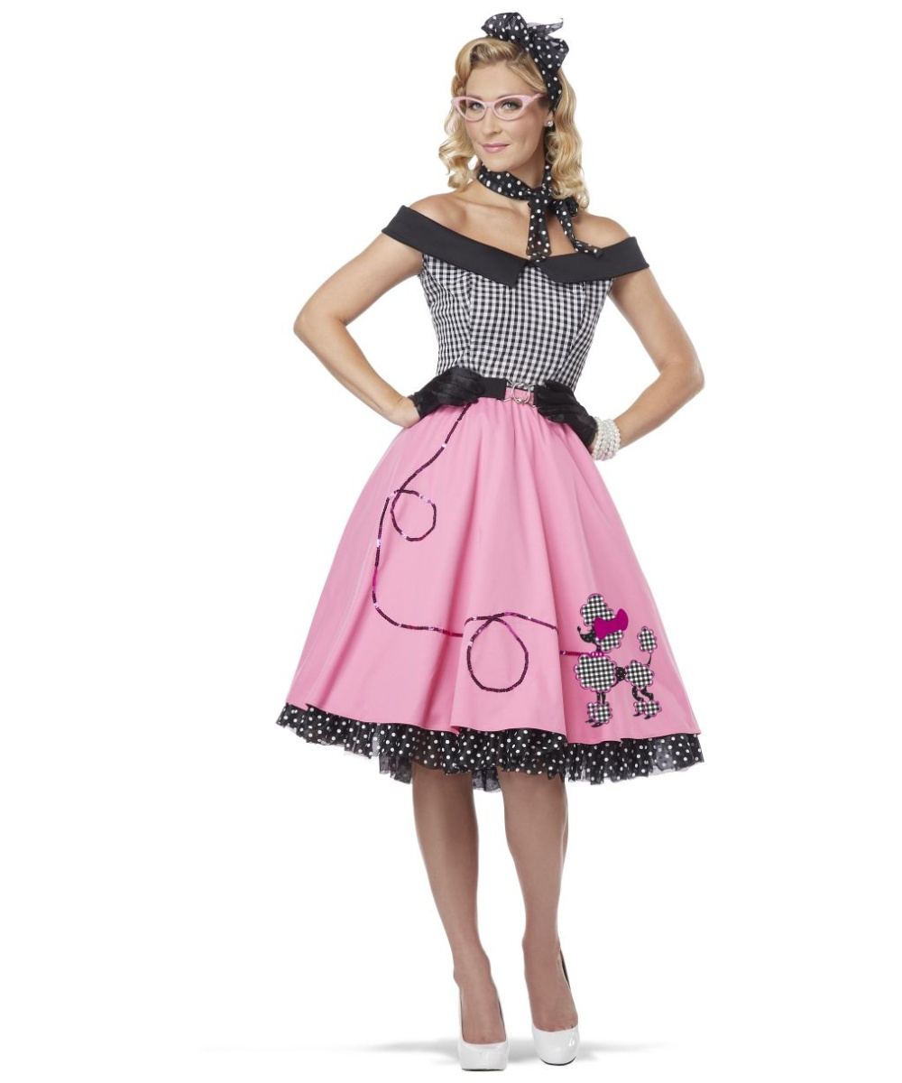 Adult Nifty 50s Poodle Costume Women Costumes