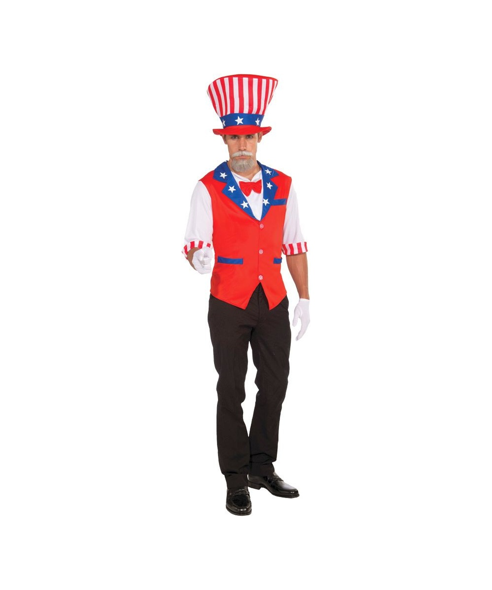 Patriotic Hat Shirt Men Costume