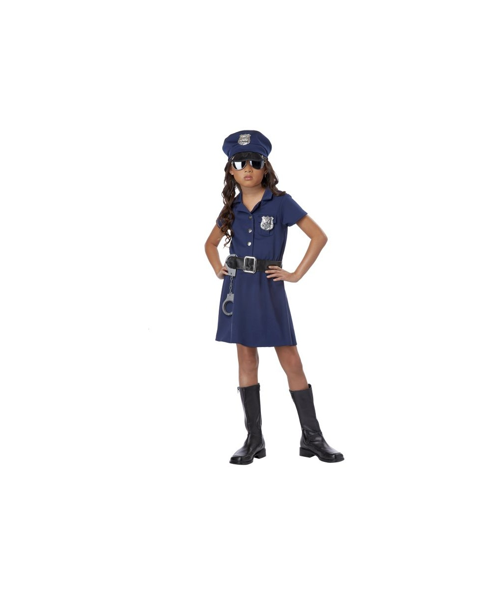 sc 1 st  Wonder Costumes & Police Officer Kids Costume - Girls Halloween Costumes