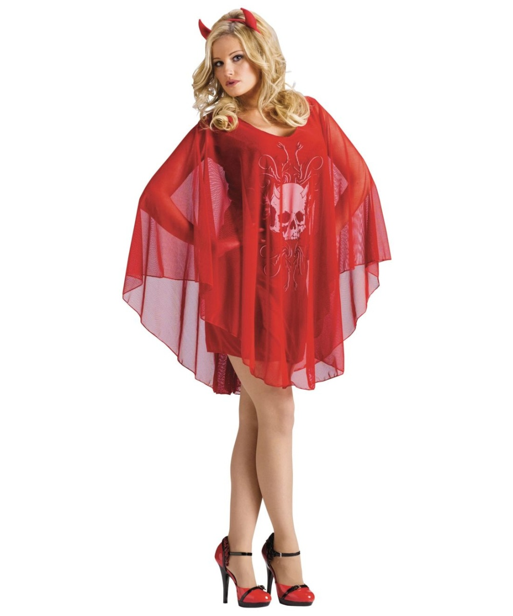 Poncho Devil Women Costume