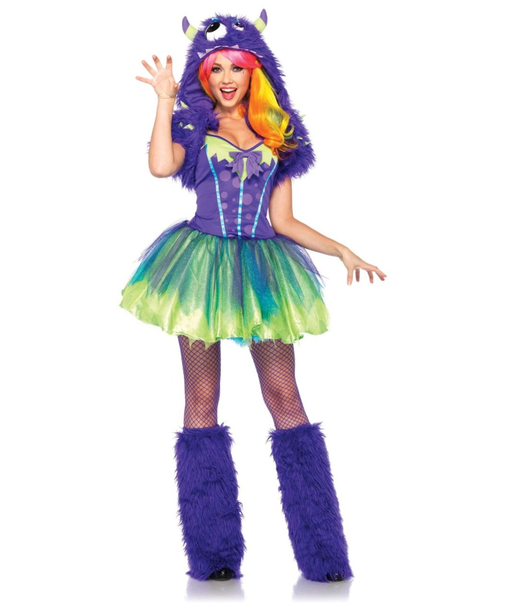 sc 1 st  Wonder Costumes & Adult Purple Posh Monster Costume - Women Costume
