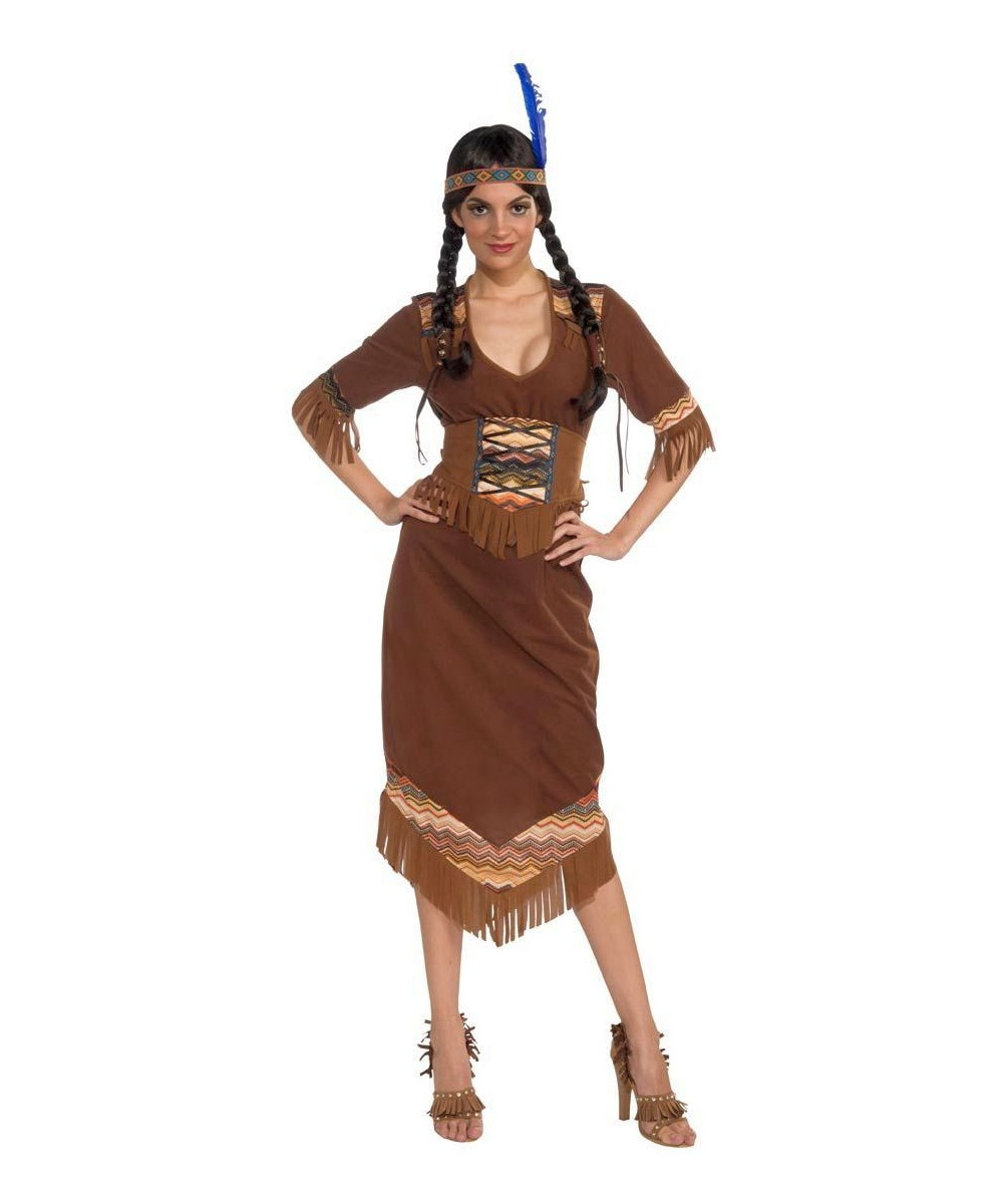 sc 1 st  Wonder Costumes & Indian Princess Little Deer Adult Costume - Women Indian Costumes
