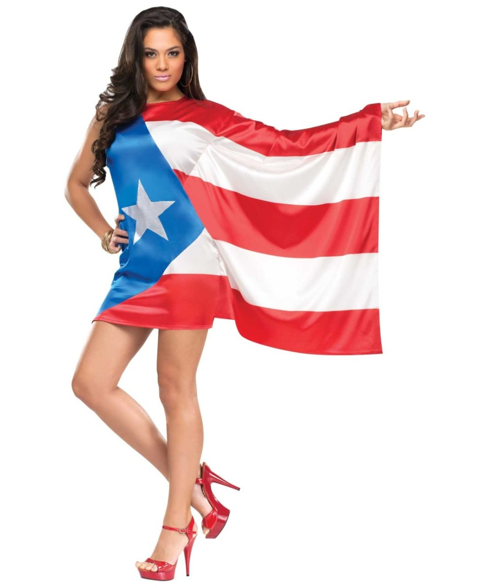 Adult Puerto Rican Pride Costume Women