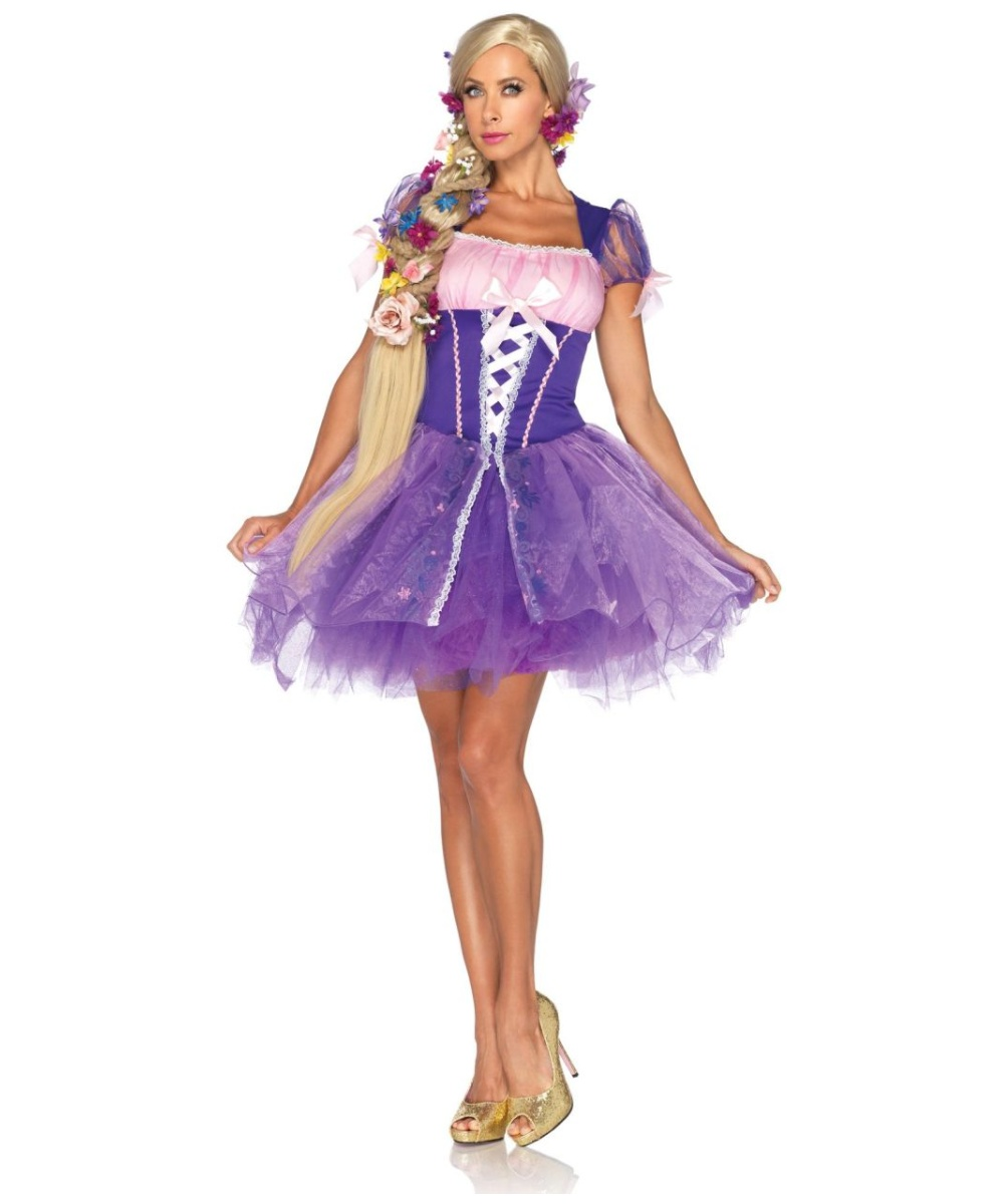 sc 1 st  Wonder Costumes & Adult Rapunzel Disney Princess Halloween Costume - Adult Costumes