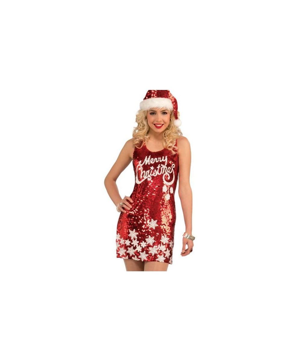 Christmas Dresses Womens.Women Racy Red Merry Christmas Dress