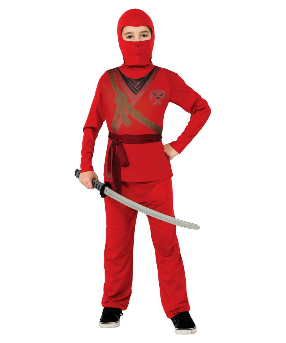 Ninja Kids Halloween Costume Red Boys Ninja Costumes