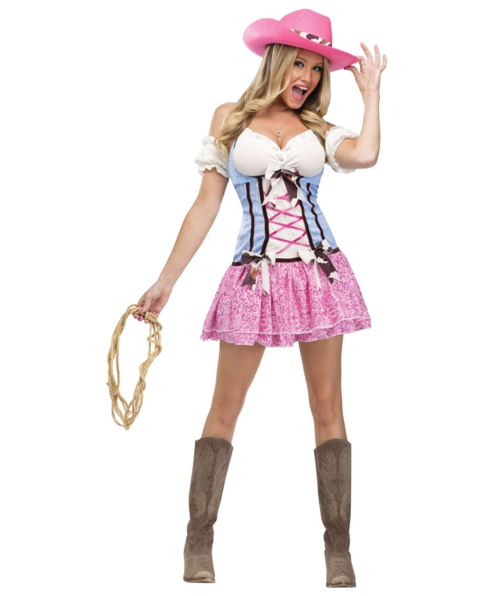 sc 1 st  Wonder Costumes & Cowgirl Rodeo Sweetie Adult Costume - Women Cowgil Costumes